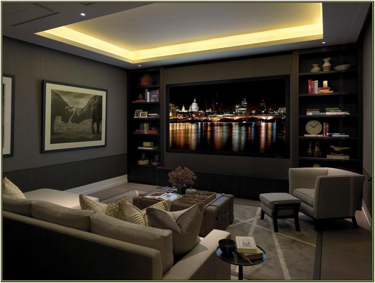 Living Room Small Home Theater Room Design Ideas