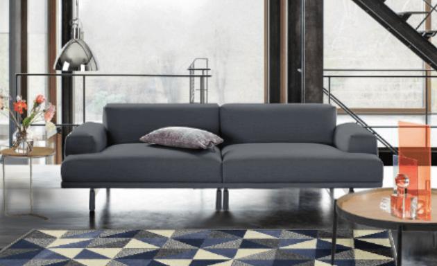 sala pequena sofa bling