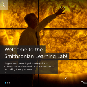 Screenshot of the Smithsonian Learning Lab homepage.