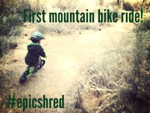 Trail Riding on a Strider Bike