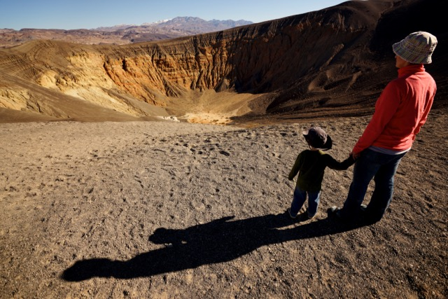 Gazing into Ubehebe Crater