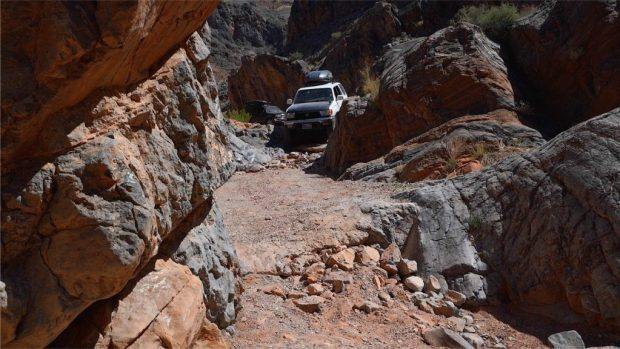 Dedeckera Canyon pinch point steps