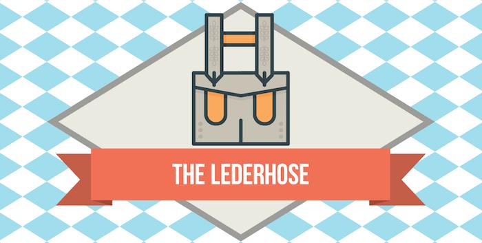 Lederhose - traditional clothing for men at Oktoberfest
