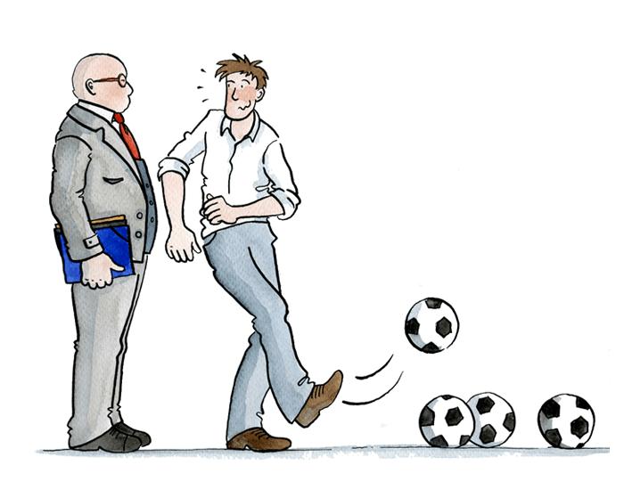 La langue espagnole emprunte beaucoup d'expressions au football