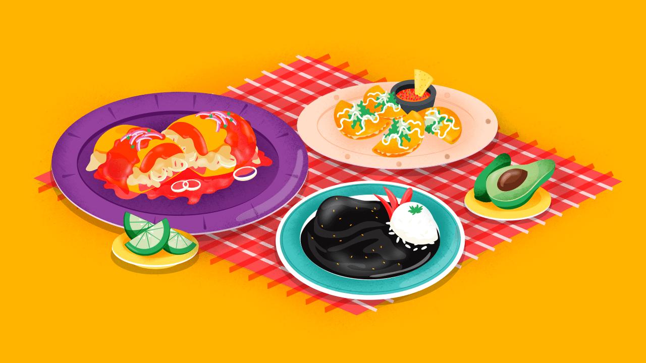 Enmoladas y otras delicias mexicanas