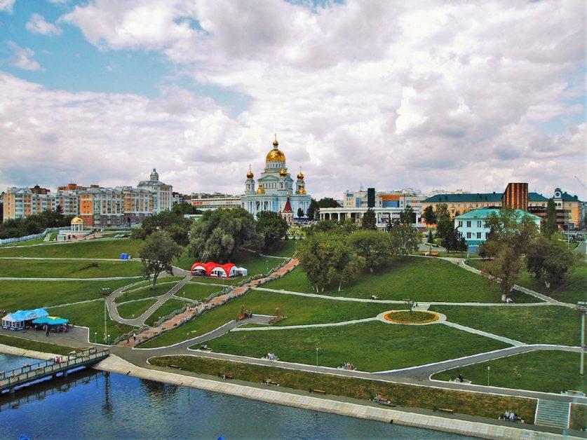 Saransk, vue de la rivière