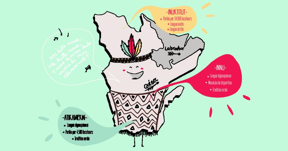 Le territoire québecois englobe plusieurs langues et cultures