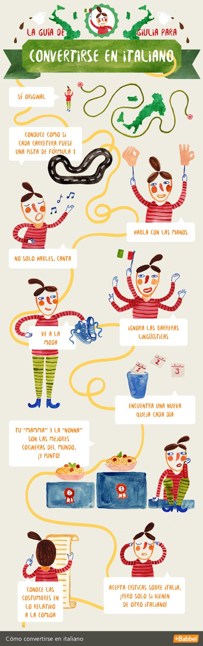 10 pasos para italianizarte