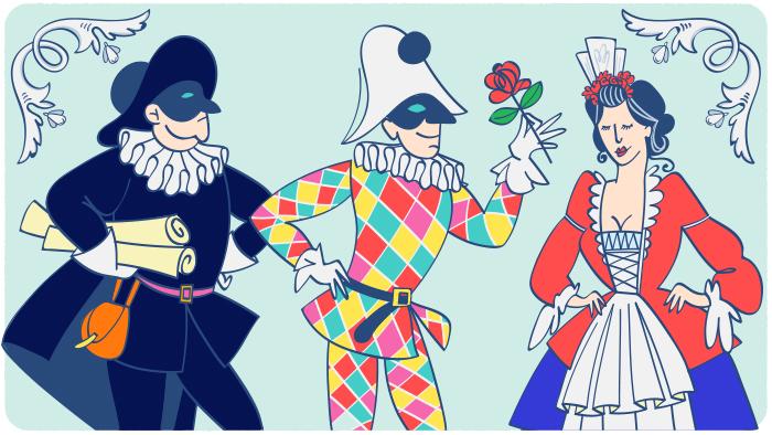 Les masques de carnaval en Italie