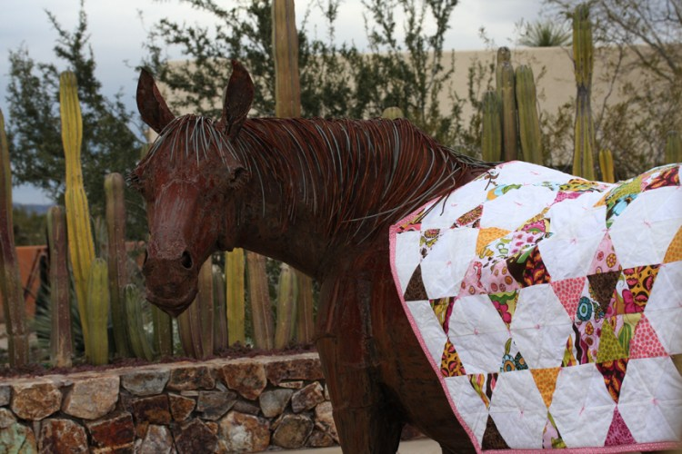 Quilted horse blanket
