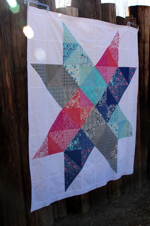 Patriot star quilt top