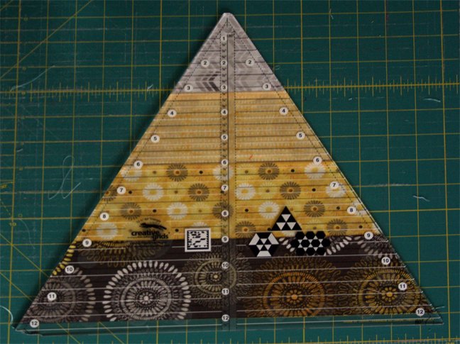 Trimmed down triangle block