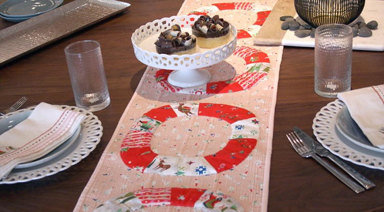 Peppermint Way table runner