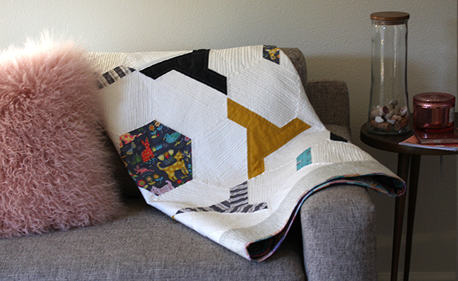 Yoya Quilt on the couch