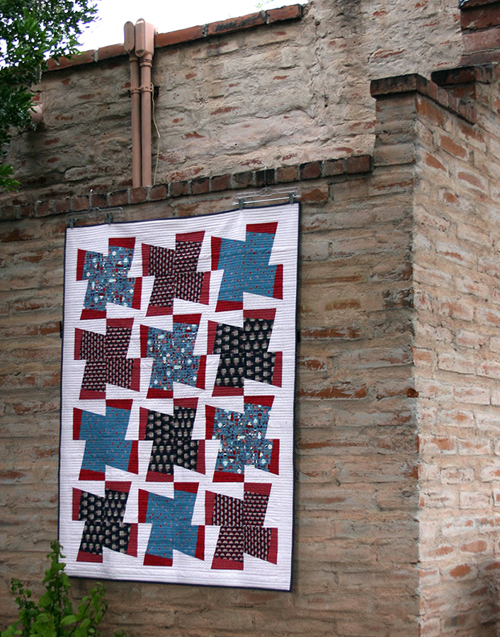 The Fan-tastic quilt for the Fourth of July.