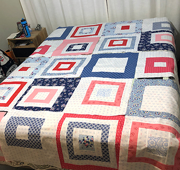Not a pretty picture but one I used to check my layout of the quilt