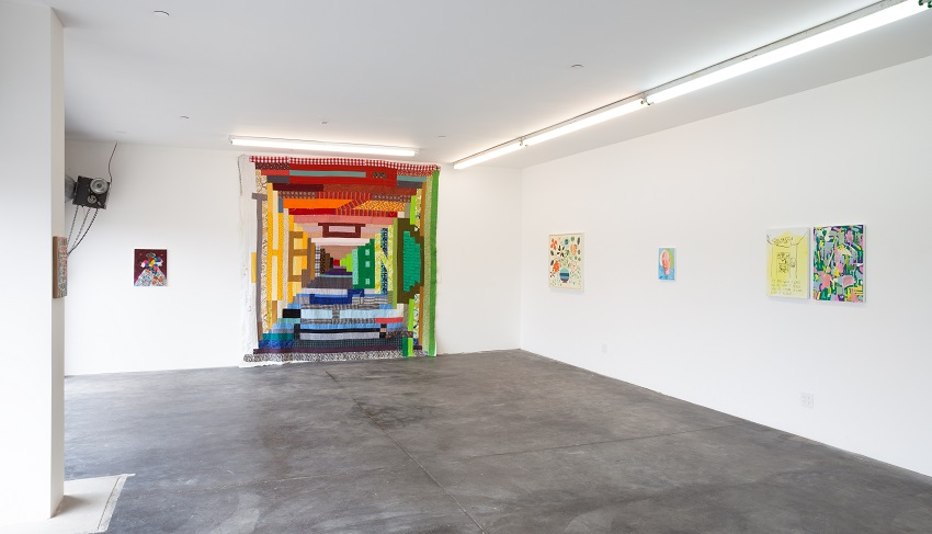 SYNAESTHESIA, installation view at 5 Car Garage (2016). Image courtesy of 5 Car Garage.