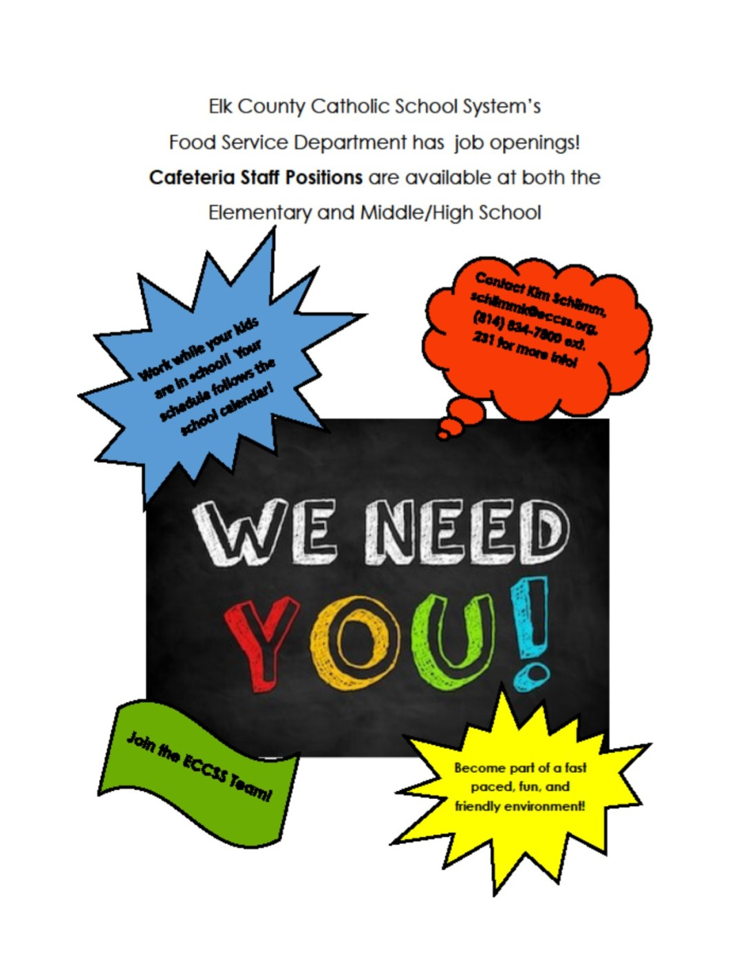 Come join the ECCSS team!