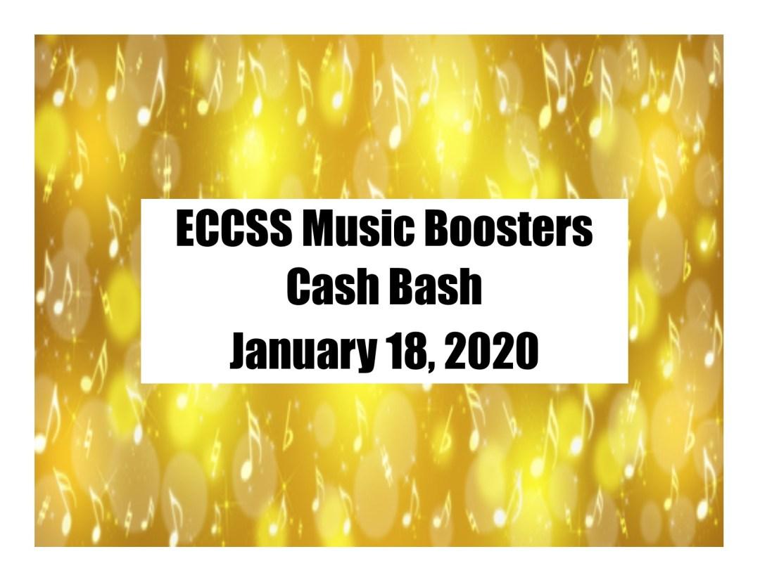 ECCSS Music Boosters Cash Bash 1-18-2020