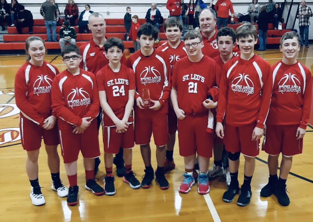 St. Leo's 8th Grade Basketball team takes 2nd in Erie tournament!