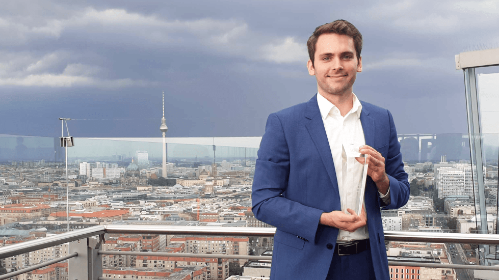 Our CEO Daniel with the Award