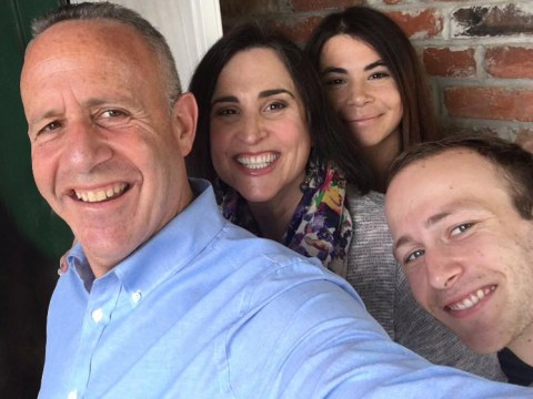 Darrell Steinberg takes a selfie with (from left) wife Julie, daughter Jordana and son Ari.