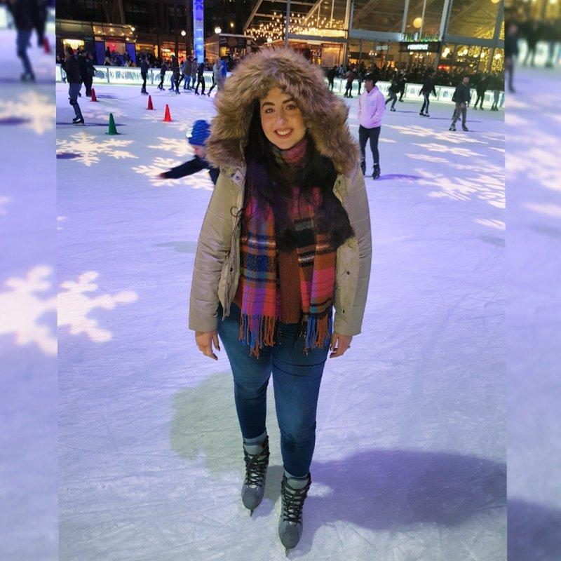 ice skating, Bryant park, New York, winter, Christmas