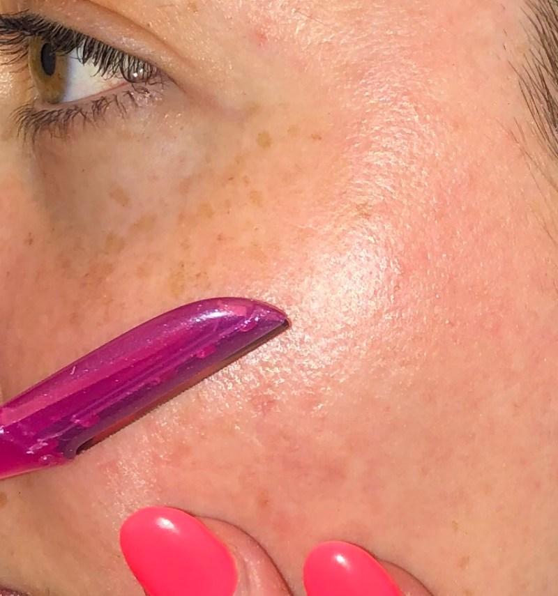 peach fuzz, faceshaving, shave face