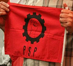 Gutierrez socialist flag