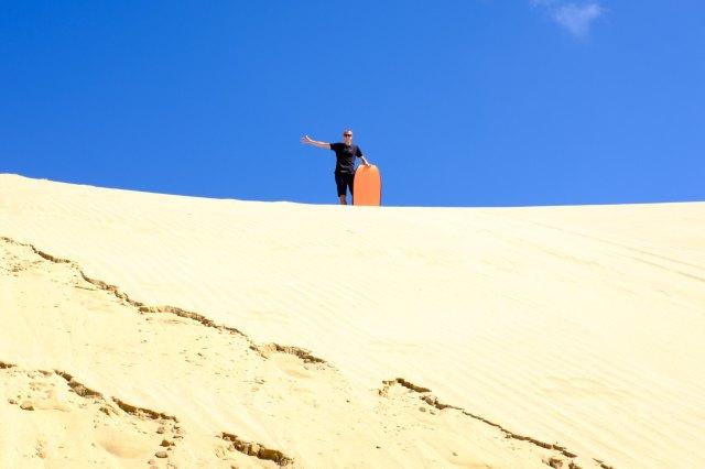 Gogo en haut de la dune