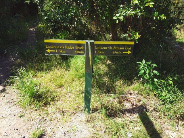 panneau de direction Pituangirua pinnacles