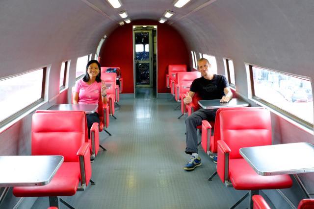 A l'intérieur de l'avion
