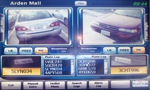 License plate scanner photo