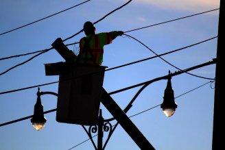 Hurricane Sandy power lines photo