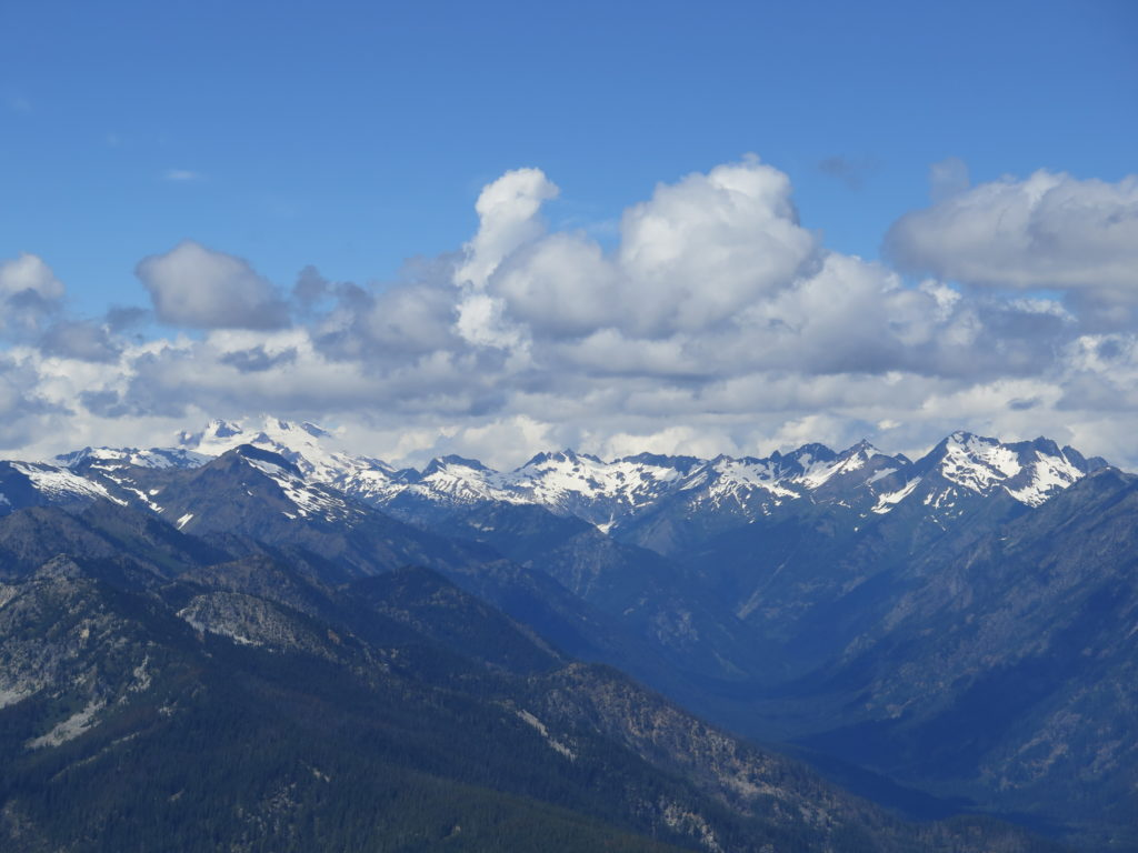 Looking north from Alpine Lookout, the weather seemed pretty peaceful