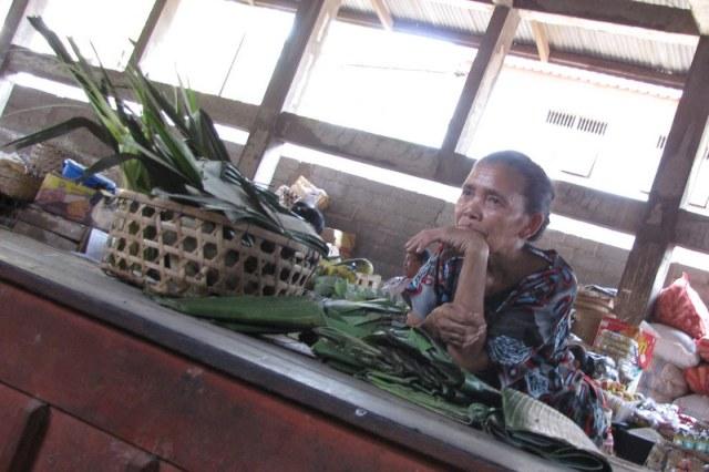 A vendor at the Amed market