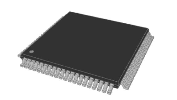 ISO 10303 compliant component model for a Microchip DSPIC30F6014A-20E/PF DSP
