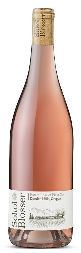 bottle of Sokol Blosser rose