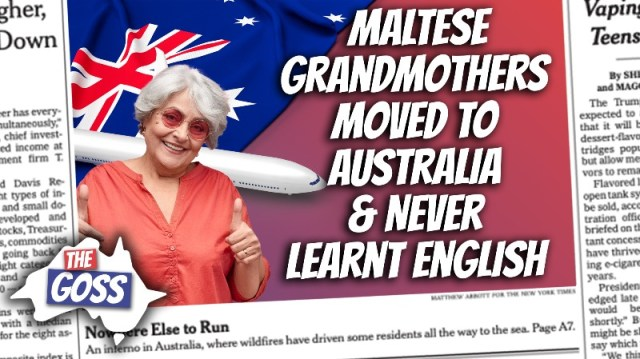 pete smissen, host of aussie english, the goss australia, ian smissen father, grandmothers from malta did not learn english, how to adapt to english speaking country, tips for migrant families