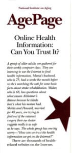 ONLINE HEALTH INFORMATION: CAN YOU TRUST IT?