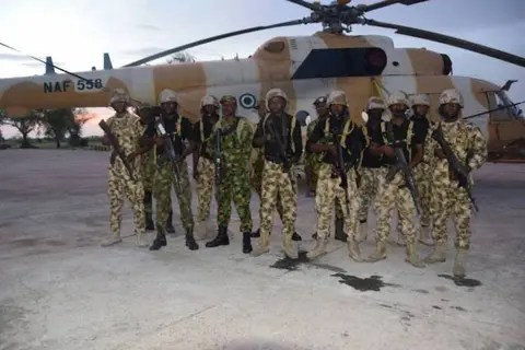The Air Task Force of Operation Lafiya Dole has destroyed compounds, housing Islamic State of West Africa Province (ISWAP) terrorists at Kaza on the Gulumba Gana – Kumshe axis of Borno. The Coordinator, Defence Media Operations, Maj.-Gen. John Enenche, who disclosed this in a statement on Wednesday in Abuja, said that scores of terrorists were […]