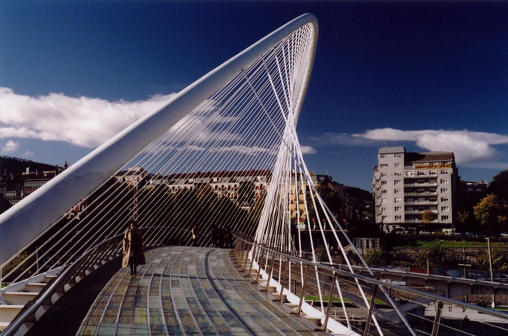 Spain Bilbao Calatrava Bridge 2 The Campo Volantin