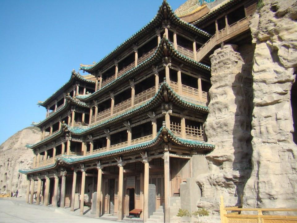 Monasterio budista en Cuevas de Yungang Datong China 06 Patrimonio de la Humanidad Unesco