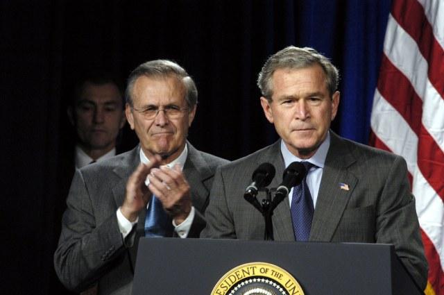 Public Domain: Secretary of Defense Rumsfeld and President…   Flickr