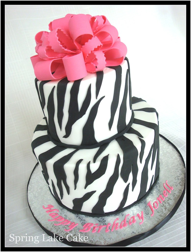 Zebra Print Cake I Believe This Was For A 50th Birthday I Flickr