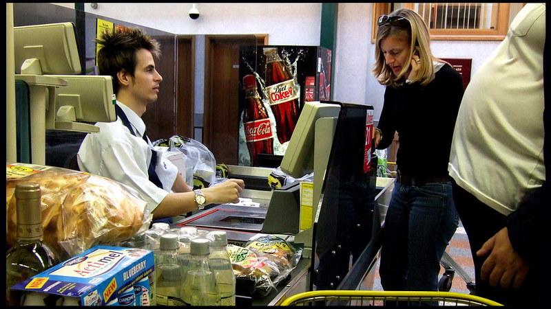 In the supermarket queue