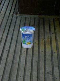 Yoghurt on the District line.
