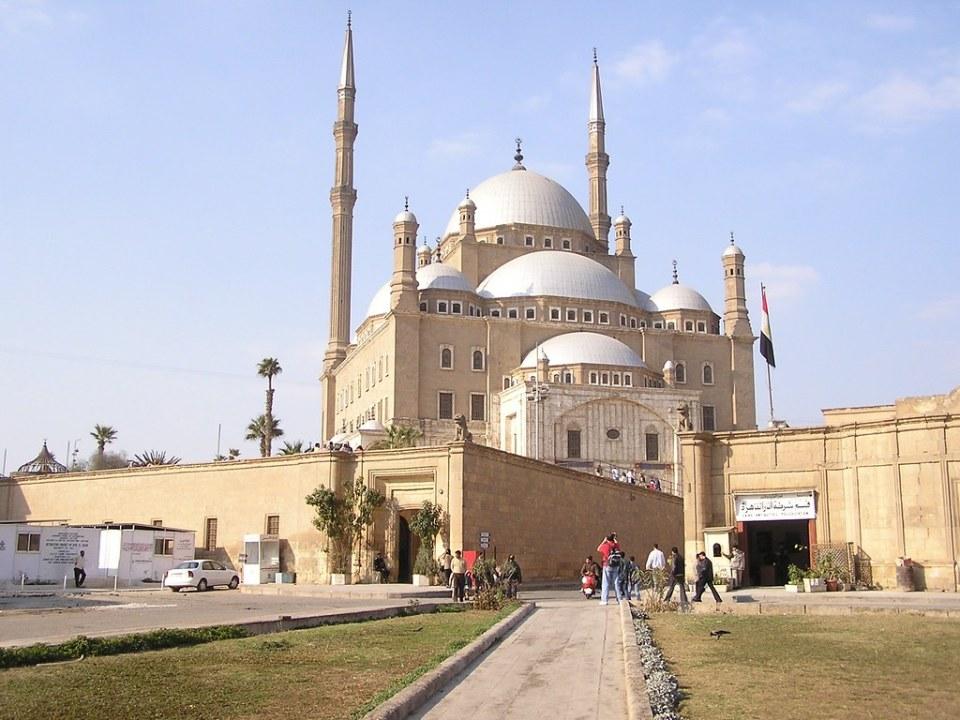 El Cairo exterior Mezquita de Mehmet Alí Pasha o de Alabastro Egipto 01