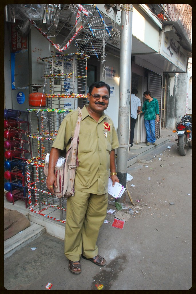 Unsung hero our life all time mumbai postman, old english letter b