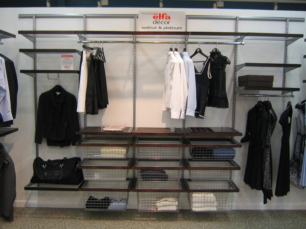 Walnut Platinum Elfa Decor Closet The Container Store
